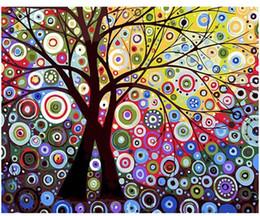 "$enCountryForm.capitalKeyWord Australia - DIY Painting By Numbers Adult Hand Painted Kits Paint Oil Paint-Abstract tree sun tree 16""x20"""