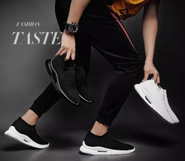 Best Fashion Sneakers Australia - Discount Best selling men Slip-On fashion casual shoes new 2019 breathable mesh men's jogging Sneaker sport Walking Shoes EUR Size 39-44