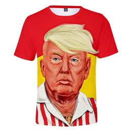 3d christmas shirts NZ - President Trump T-shirt Trump Funny 3D Printing T-shirt Tops Cool Fashion Streetwear Round Collar Short Sleeve Shirts Christmas Party Gifts