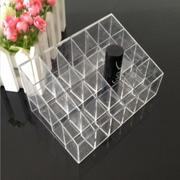$enCountryForm.capitalKeyWord UK - Transparent Display Solid Holder Lipstick Cosmetic Grid 24 Stand Case Makeup Trapezoid Case