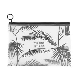 $enCountryForm.capitalKeyWord Australia - 1PC Fashion New Women Clear Cosmetic Bag Coconut Tree PVC Makeup Pouch Pencil Pen Case Cosmetic Bag Zipper Toiletry Holder