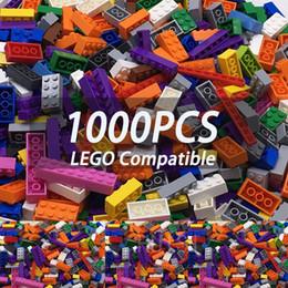 $enCountryForm.capitalKeyWord Australia - Boys Toys 6 Years 1000 Pieces Building Blocks Set More Big Pieces 1.7kg 15 Color Plastic Diy Model Building Bircks Toys For Kids MX190730