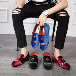 korean rubber shoes boys NZ - 2019 Spring new Korean version of the trend casual small shoes metal sequins Tassel peddling lazy people a hundred shoes social boys pointed