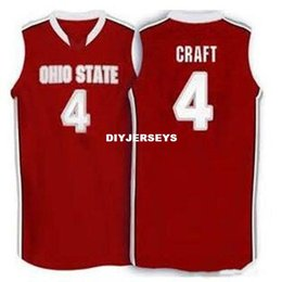 $enCountryForm.capitalKeyWord UK - Cheap custom #4 Aaron Craft Ohio State Buckeyes basketball Jersey white red Embroidery Stitched Custom any Number and name Jerseys