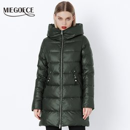 military green parkas women NZ - Miegofce 2019 Winter Coat Women's Parka With A Hood Jackets And Parka Women's Military Coat Hat New Winter Fashion Coat Jacket Y190828