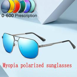 1190157367 2019 men women Custom Made Myopia Minus Prescription Polarized Lens Retro  Square sunglasses Men Punk Driving goggles UV400 FML