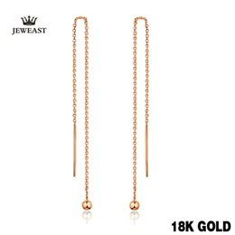 $enCountryForm.capitalKeyWord Australia - 18k Pure Gold Drop Earrings Simple Classic Tasteful Vintage Charm Real 750 Solid Good Fine Party Discount Women Girl Like Gift Y19052301