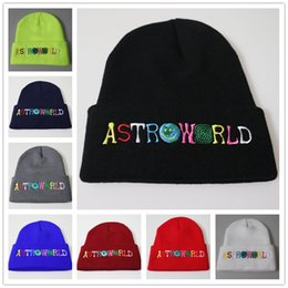 100% Wool Travis Scotts Beanies ASTROWORLD Sports Outdoors Athletic Caps Unisex Winter Hats High Quality Embroidery on Sale