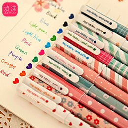 $enCountryForm.capitalKeyWord Australia - 10pcs set watercolor color pen black school supplies Stationery water-based pen Cost-effective free shipping kawaii