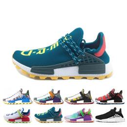 8dc91fcebe35c Creme Nerd Human Race trail Solar Afro Pack Running Shoes Men Women  Pharrell Williams HU Runner SOLARHU Mens Casual Sport Sneaker Size 36-47