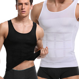 Mens sliMMing underwear online shopping - Bodysuit Mens Clothes Jumpsuit Undershirt Body Shaper Underwear Slimming Tummy Shaper Undershirt Vest Belly Shapewear Tops