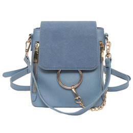 c4138a9198 Luxury Chains Backpacks Women Pu Leather Mini Backpack Ladies Designer  Small School Bag Brand Shoulder Bag 2019 Bolsa Feminina