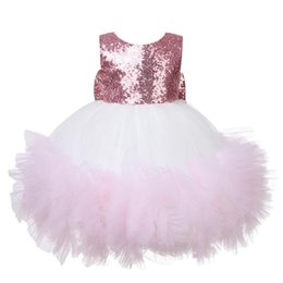 $enCountryForm.capitalKeyWord UK - Sequin Lace Baby Girl Dress Special Occasion Dress Baby Christening Baptism Gown Newborn Birthday Princess Infant Party Costume