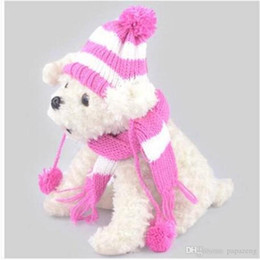 Male Hat Scarf Australia - Wholesales free shipping hot sales Caps Scarf Dog Suit Hat Hat Scarf Set Dog Apparel Hat