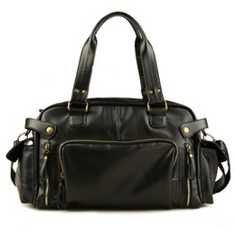 Brown leather duffle Bag online shopping - Vintage travel bag Men handbag luggage duffle bag valise de voyage weekend Shoulder Male leather shoulder bags bolsa viagem