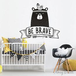 $enCountryForm.capitalKeyWord Australia - Be Brave Wall Decal Cute Tribal Bear Wall Sticker For Kids Room Baby Bedroom Decor Nursery Bear Decal Vinyl Tattoo Stickers A739