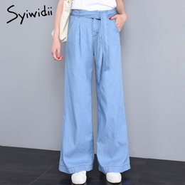 $enCountryForm.capitalKeyWord Australia - high waist jeans Softener Loose Tencel Lyocell Cotton Full Length womens trousers mom jeans summer thin plus size sky blue 2019