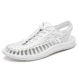 $enCountryForm.capitalKeyWord Australia - male popular sandals flat casual knit woven men Big size 35-46 rome shoes for man summer outdoor women lady couple unisex gladiator footwear