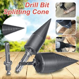 drill bits for wood NZ - Bits HSS Woodworking Wood Separator Spiral Cone Reamer Punch Driver Firewood Machine Splitter Drill Bit for Drill 32 42 45mm