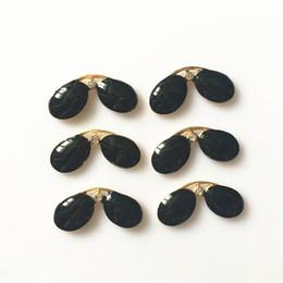 $enCountryForm.capitalKeyWord UK - CJSIR 50pcs Bear Sunglasses Buttons Black Alloy Button Flatback Plating for Clothing Hair Accessories Craft Supplies Decoration