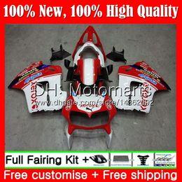 Vfr 98 Australia - Body For HONDA Interceptor VFR800R VFR800RR 98 99 00 01 Red white 68MT18 VFR800 VFR 800RR 800 RR 1998 1999 2000 2001 Hot Fairing Bodywork