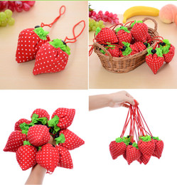 $enCountryForm.capitalKeyWord Australia - Wholesale Fruit Shopping Bag Portable Grocery Bag Reusable Strawberry Storage Handbag Foldable Shopping Bags Travel Tote