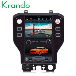 "Ford Touch Screen Stereo Australia - Krando Android 6.0 11.8"" Tesla style Vertical screen car dvd player radio for Ford Mustang multimedia system audio stereo navigation player"