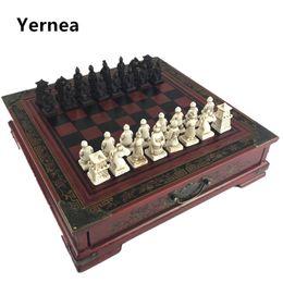 $enCountryForm.capitalKeyWord Australia - New Chinese Retro Terracotta Warriors Chess Wood Do Old Carving Resin Chessman Christmas Birthday Premium Gift Yernea Q190604