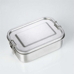 metal lunch boxed NZ - Stainless Steel Reusable Lunch Container 2 Compartment Bento Box Eco-Friendly Metal Food Storage Lunchbox for School Office Meal Prep A05