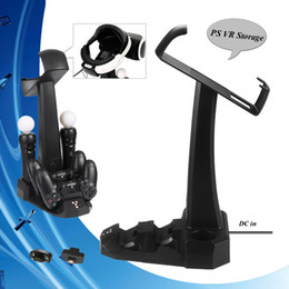 Move Controller Australia - PS4 Accessories PSVR PS 4 Move Charging Dock Station Charger Stand & 2 Dongles for PS4 Controller & PS VR Storage Showcase