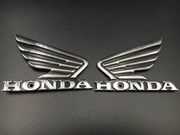 Autocollant de décalque d'emblème 3M de réservoir de carburant d'ABS de chrome de la moto 3D fait sur commande pour l'aile de Honda en Solde