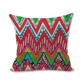 bohemian cushion covers NZ - Bohemian Colorful Stripes Geometric Flower Ethnic Boho Style Vivid Colors Cotton Linen Throw Pillow Case Cushion Cover Home Office Decor