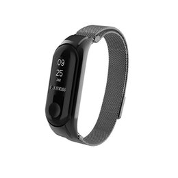 Discount mi band xiaomi strap Milanese Magnetic Loop Stainless Steel Watch Band Strap For Xiaomi Mi Band 3 Gift For Dropshipping