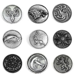 accessories game thrones 2020 - Game Of Thrones Stark Brooch Song Of Ice And Fire Vintage Antique Dire Wolf Shield Pin Brooches For Women Fashion Access