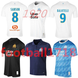 Venta al por mayor de Maillot de fútbol Olympique de Marseille 2019 OM Marseille Maillot De Foot PAYET ANGUISSA GOMIS camisetas 19 20 camisetas de Marsella
