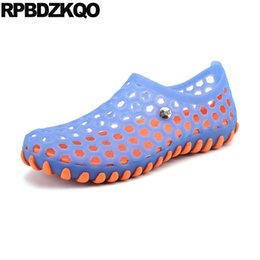 Shoes Blue Gardening Garden Large Size Closed Toe Clogs Breathable Mens  Sandals 2018 Summer Outdoor 45 Beach Rubber Nice Jelly 859817315a8a