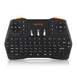 Hebrew keyboards online shopping - Viboton G Wireless I8 Plus Hebrew Keyboard Touchpad Air Mouse Mini Gaming Keyboard for Windows Android Tv Computer