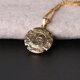 $enCountryForm.capitalKeyWord Australia - Hot-selling Jesus Pendant Necklaces Hiphop Cube Necklace For Men Alloy Imitation Gold Necklaces For Party Bar Designer Accessories Two-sided