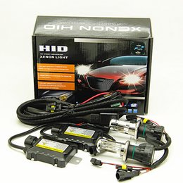 h4 xenon headlight bulbs UK - 100 kits H4-3 BI XENON H4 HID 55W 6000K CAR HID HEADLIGHT LAMP