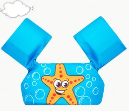 Baby Swim Jacket Australia - baby swim rings puddle jumper baby cartoon float tube arm sleeves swim ring life vest jackets armbands swim coach foam pool toys