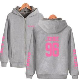 e4b2824a Winter Blackpink Women Jackets Coats Korean Fashion Black Pink Album Warm  Thick Zipper Sweatshirt Hoodies Clothes