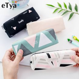 storage makeup brushes Australia - eTya Women Travel Cosmetic Bag Fashion Makeup Brush Bag Zipper Pencil Case Make Up Organizer Storage Pouch Toiletry Beauty Box