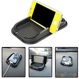 Sticky Gadgets Australia - Black Car Dashboard Sticky Pad Mat Anti Non Slip Gadget Mobile Phone GPS Holder Interior Items Accessories