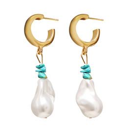 $enCountryForm.capitalKeyWord Australia - 2019 New Arrival ZA Designer Earrings Fashion Vintage Geometric Statement Earings Natural Pearl Drop Earrings For Women
