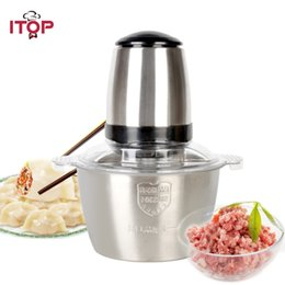 $enCountryForm.capitalKeyWord Canada - ITOP Stainless Steel Meat Grinder Chopper Electric Automatic Mincing Machine Meat Cuutter High-quality Household Grinder Food Processor