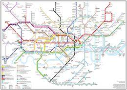 $enCountryForm.capitalKeyWord Australia - Detailed London Underground Tube Map Art Silk Print Poster