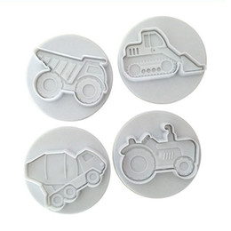 silicone cake cars NZ - Car Silicone Mold Trucks Cake Cookie Cutters Fondant Tractor Tire Cake Molds Vehicles Theme Cake Decorating Baking