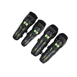 SeaSon Set online shopping - Motorcycle Knee Protector set Four Seasons Universal Reflective Effect Racing Motorcycle Knee Elbow Pad