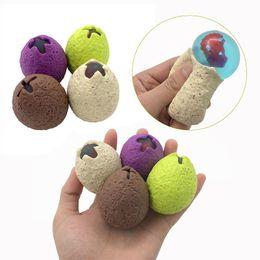 $enCountryForm.capitalKeyWord Australia - Anti Stress Dinosaur Egg Novelty Fun Splat Grape Venting Balls Squeeze Stresses Reliever Gags Practical Jokes Toy Funny Gadgets kids toys