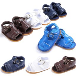 Brown Toddler Sandals Australia - 2019 boys baby summer 0-1 years old rubber soles slip breathable soles sandals baby toddler shoes
